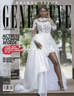 Yvonne Jegede Genevieve bridal magazine December 2016 LoveWeddingsNG