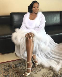 2017 Nigerian Wedding Trend Tulle Feathered Bridal Robes LoveWeddingsNG