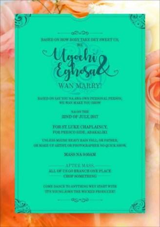 Nigerian Funny Wedding Invitation Card LoveWeddingsNG 3