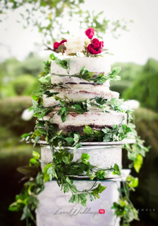 Nigerian Outdoor Garden Wedding Cake #TemiDotun17 LoveWeddingsNG