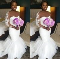 Nigerian Wedding Trend Bridal Illusion Sleeves LoveWeddingsNG