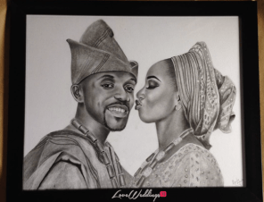 Nigerian Suprise Illustration Giveaway Mimisola and Dotun LoveWeddingsNG Mbondu Artworks