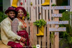 Nigerian Traditional Farm Themed Wedding Sumbo and Moses Farmland Themed Wedding #SMLove17 TrendyBE Events LoveWeddingsNG 1