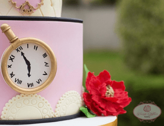 Alice in wonderland Nigerian Wedding Cake Dainty Affairs LoveWeddingsNG 4