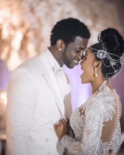 Gucci Mane and Keyshia Kaoir's Wedding Mr and Mrs Davis #TheManeUnion Groom and Groomsmen in white LoveWeddingsNG