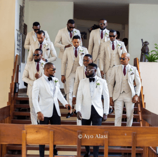 Nigerian Celebrity Wedding Groom and Groomsmen Yomi Casual and Grace #TheCasuals17 Ayo Alasi LoveWeddingsNG 1
