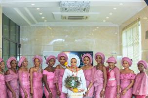 Nigerian Hottest Wedding News Asoebi Colour of the week Pink #ASK2017 LoveWeddingsNG