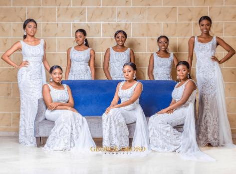 Anita (Ms Makor's) Bridesmaids | Photo: George Okoro Weddings