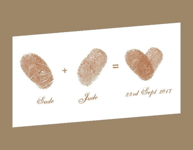 Sade and Jude Rustic Nigerian Wedding Logo LoveWeddingsNG