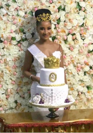 Adesua Etomi's Bridal Shower Cake LoveWeddingsNG