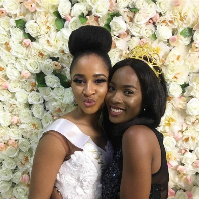 Adesua 'Susu' Etomi and Bridesmaid Jemima Osunde #BAAD17 Royal Bridal Shower LoveWeddingsNG