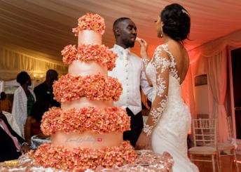 Ghanaian Wedding cake Bema and Cherelle Adjei-Ampofo JOT Photography LoveWeddingsNG