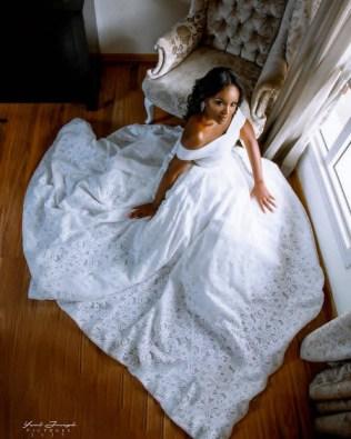 Nigerian Bride Kiki wears wedding gown for birthday shoot 1