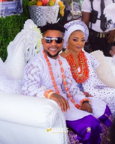 Nigerian Celebrity Couple Traditional Wedding Oritsefemi and Nabila #ON2017 HB Pixels LoveWeddingsNG