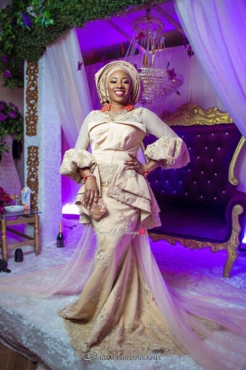 Nigerian Traditional Wedding Bride Second Outfit Uche and Emeka Diko Photography LoveWeddingsNG
