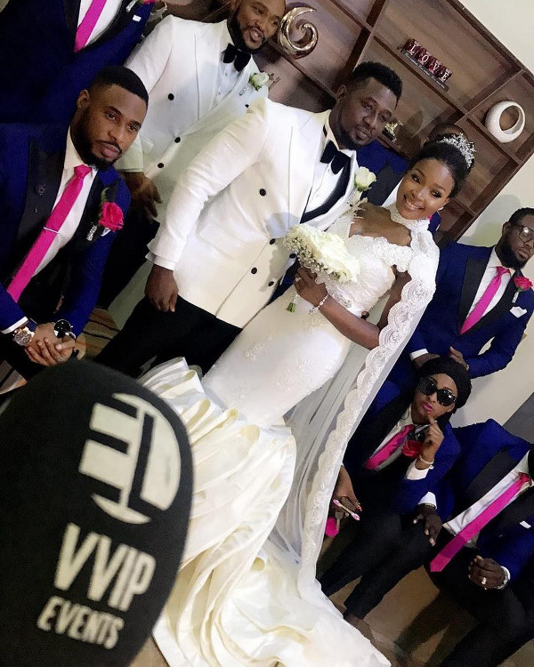 Nollywood Actor, Daniel K Daniel and Tina's Wedding Bride and Groom #Teedkd17 LoveWeddingsNG