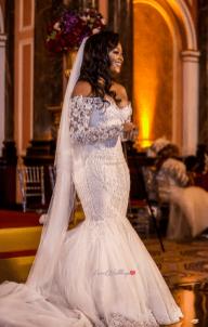 Ollie & Bae's 50's Hollywood Vintage Glamour Themed Wedding Bride in Alonuko AFMENA Events LoveWeddingsNG 1