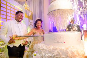 Nigerian Bride and Groom Cake LoveWeddingsNG #ForeverAHMUYours18 1