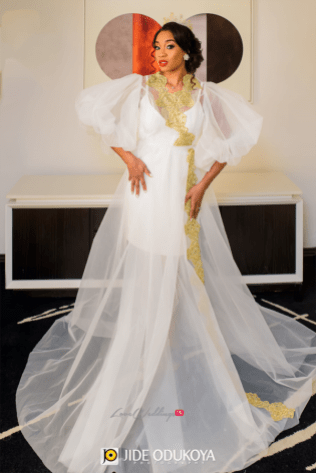 Nigerian Bride in Robe Enchanted Themed Wedding LoveWeddingsNG #ForeverAHMUYours18 1
