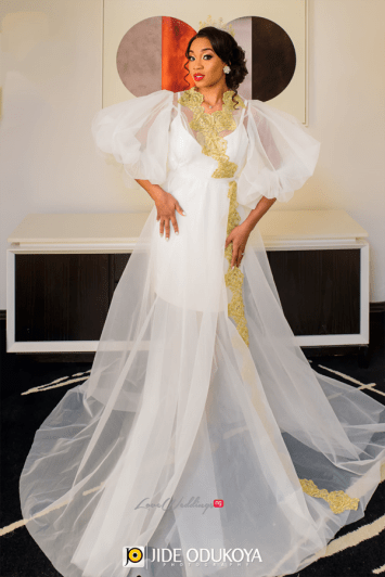 Nigerian Bride in Robe Enchanted Themed Wedding LoveWeddingsNG #ForeverAHMUYours18 1