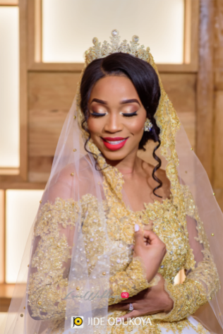Nigerian Bride with Tiara and Bouquet LoveWeddingsNG #ForeverAHMUYours18 3