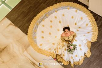 Nigerian Enchanted Bridal Gown April by Kunbi LoveWeddingsNG #ForeverAHMUYours18