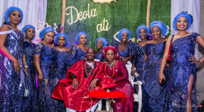 Nigerian Traditional Couple and Friends Deola and Segun #TheDSSWedding LoveWeddingsNG