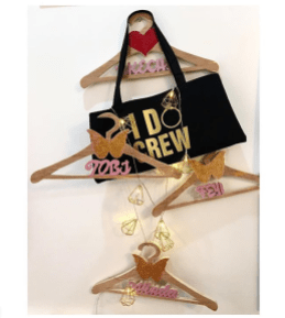 Nigerian Wedding Personalised Totes and Hangers for Bridesmaids The Gift Fairy NG #UBAsh LoveWeddingsNG