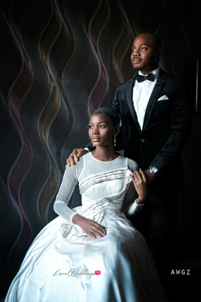 Nigerian Wedding Studio Portrait bride Ibidola and Yemi #NYUnion LoveWeddingsNG Awgz