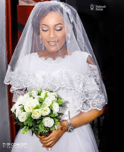 Nigerian Brides who wore Nigerian bridal designs - Loveth in Hadassah Bridals LoveWeddingsNG 2