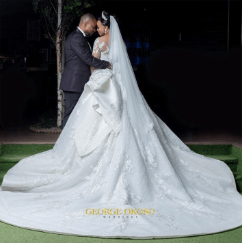 Nigerian Brides who wore Nigerian bridal designs - Maryanne Ifeoma in JBecks Bridals LoveWeddingsNG 3