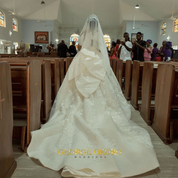 Nigerian Brides who wore Nigerian bridal designs - Maryanne Ifeoma in JBecks Bridals LoveWeddingsNG 4