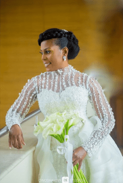 Nigerian Brides who wore Nigerian bridal designs - Nkechi in April by Kunbi LoveWeddingsNG