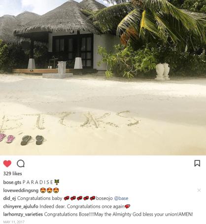 NIgerian Bride Shares Honeymoon Pic #BToks2018 Instagram LoveWeddingsNG 1