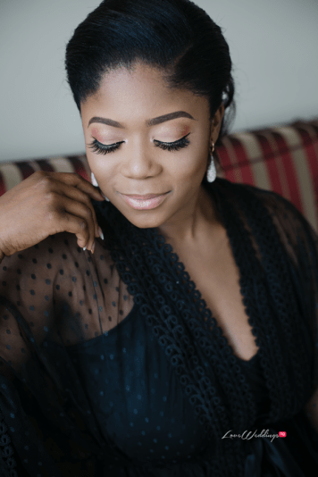 Bride in black bridal robe #Ayowa18 Wani Olatunde Photography LoveWeddingsNG 2