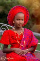 Children's Day 2018 Nigerian Traditional Little Bride Ceomania Alaso Oke LoveWeddingsNG
