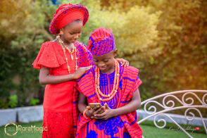 Children's Day 2018 Nigerian Traditional Little Bride and Groom Ceomania Alaso Oke LoveWeddingsNG 1