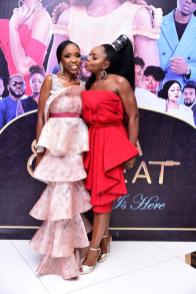 Lala Akindoju & Chioma Akpotha at the premiere of Lara and The Beat LoveWeddingsNG
