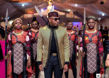 Pretty Mike attends DJ Consequence weds Olayemisi Williams #TheVibesWedding18 LoveWeddingsNG Wakanda