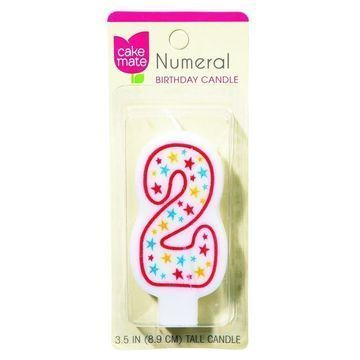 Cake Mate Birthday Party Candle Numeral 2 3 in 1