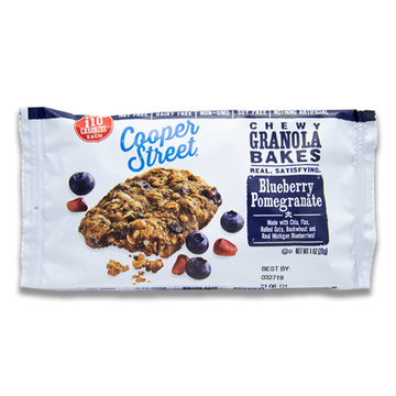 Blueberry Pomegranate Chewy Granola Bakes by Cooper Street Cookies