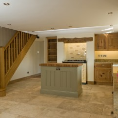 Making A Kitchen Island From Cabinets Lowes Flooring Rustic Oak And Painted   Lovewood Kitchens