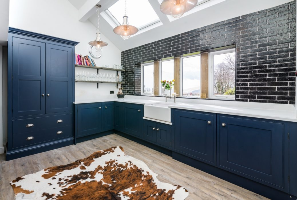 Industrial Blue kitchen  Lovewood Kitchens