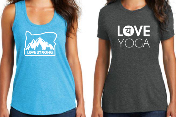 Logo Styles for Love Yoga Tees