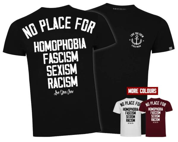Camiseta No place for tres colores