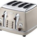 De'Longhi Vintage Icona Dolcevita CTOV4003.BG 4-Slice Toaster