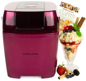 Andrew James Premium Plum Digital Ice Cream Maker