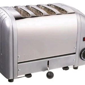 dualit silver coloured toaster