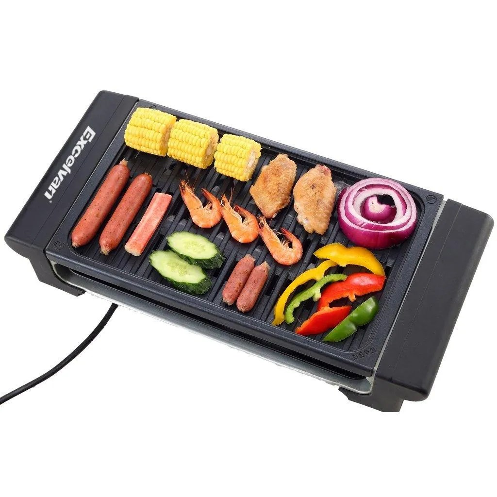 No 2 Griddle Choice U2013 Excelvan Portable Electric Grill Indoor Barbecue With  Large Easy Cleanup Cooking Surface And Thermostat Drip Tray