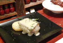 Traditional cod pintxos served in a modern way. If you are feeling adventurous, try cod cheeks, a traditional Basque dish